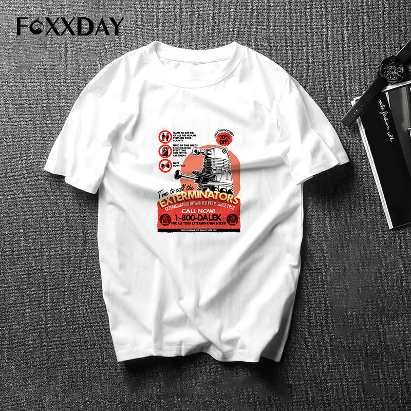 Hot Sale Men Doctor Who T Shirt White Short Sleeve O-neck Dr Who T-shirt Casual Style Brand Print Tee shirt Cool 23 Kind Hip-Hop