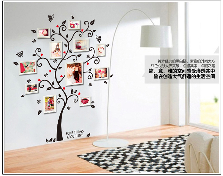 TIE LER DIY Family Photo Frame Tree Wall Sticker Home Decor Living ...