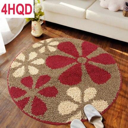 Round non-slip chair pad computer pad modern minimalist childrens mat doormat living room bedroom bedside mat