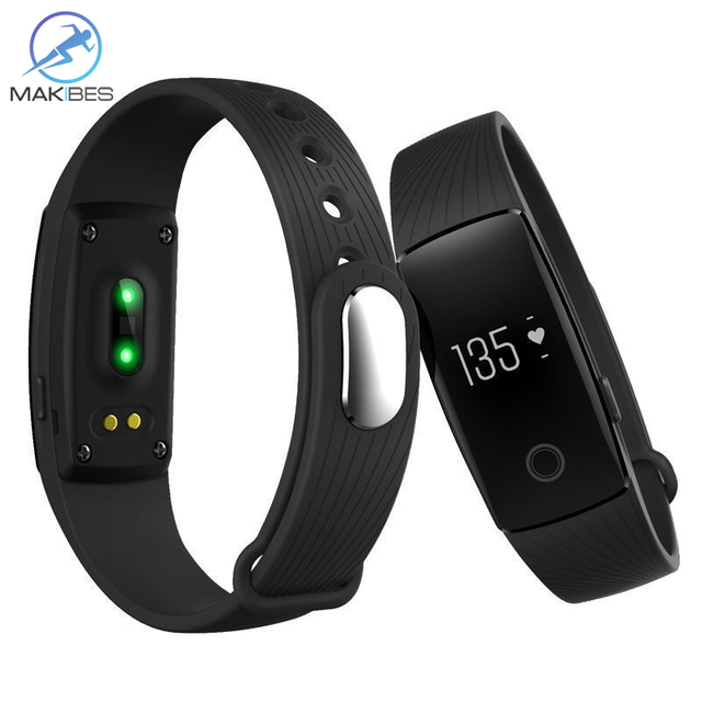 Makibes ID107 Bluetooth 4.0 smart band Smart Bracelet Heart Rate Monitor Wristband Activity Fitness Tracker  vs mi band 2