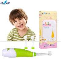 Akıllı su geçirmez elektrikli diş fırçası Sonic pil kumandalı elektrikli diş fırçası bebek çocuk ekstra kafaları ile toptan P49