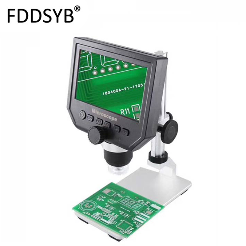 Red 600x Magnification 3.6MP USB Digital Electronic Microscope Precision Repair Portable 8 LED VGA Industry Microscope