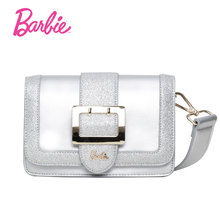 2018 Barbie Women Shoulder Bag small Flap handbags Women Fashion Bags Delicate Cross body Bags silver color simple style(China)