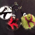 Fashion funny grimace little monster plush toy fox fur and mink fur bag pendant accessories charm gift Lafayette Karlito