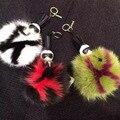 Moda engraçado careta pouco monstro de brinquedo de pelúcia fox fur and mink fur saco acessórios pingente charme presente Lafayette Karlito