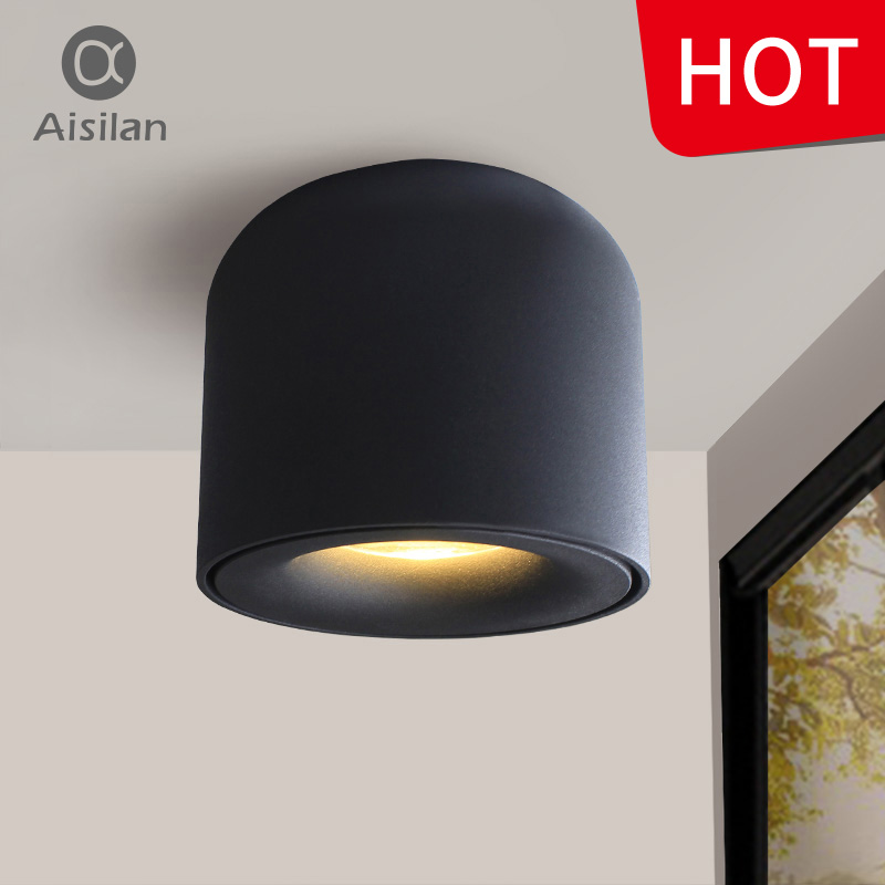 Aisilan LED Downlight Ceiling Spotlights Living Lamp Ceiling Lighting For Kitchen Bathroom light Surface mounted AC90