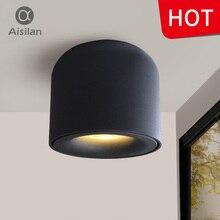 Aisilan светодио дный светильник потолочный прожекторы жизни лампы освещения потолка для Кухня Ванная комната свет поверхностного монтажа AC90-260v