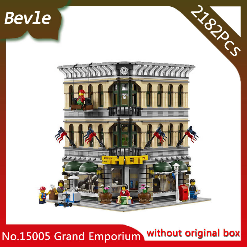 Bevle Store LEPIN 15005 2313Pcs street View series Grand Emporium Model Building Blocks Kits Brick Toy For Children Toys 10211 managing the store