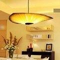 Chinesischen Stil Holz Lampen Furnier Bambus Wohnzimmer anhänger Lichter Restaurant Lampe Esszimmer Lichter-in Pendelleuchten aus Licht & Beleuchtung bei