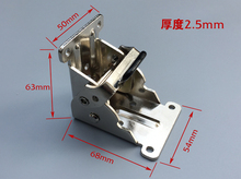Best quality hinges the folding table legs of furniture hardware hinge connector accessories flap 90 silver lock
