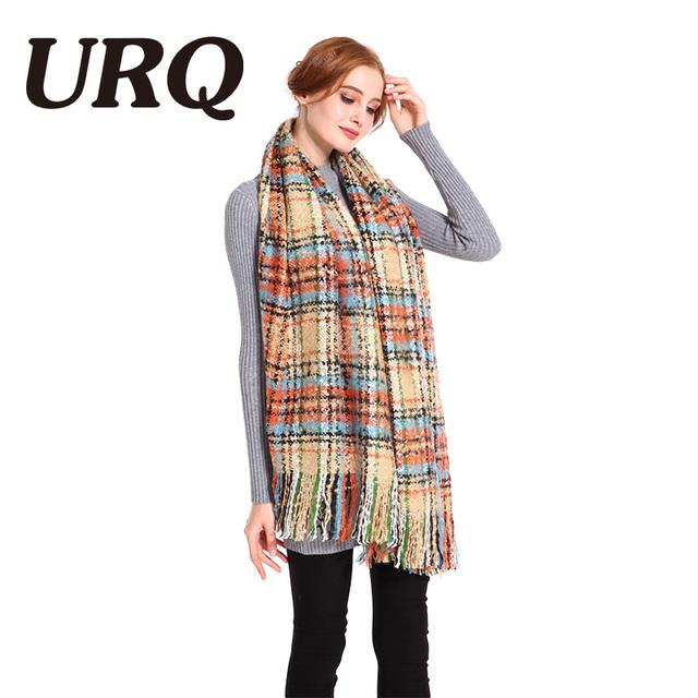 soft winter warm scarf for women plaid blanket long with tassel scarves lady shawl pashmina wrap Tartan Blanket 2017 new arrival