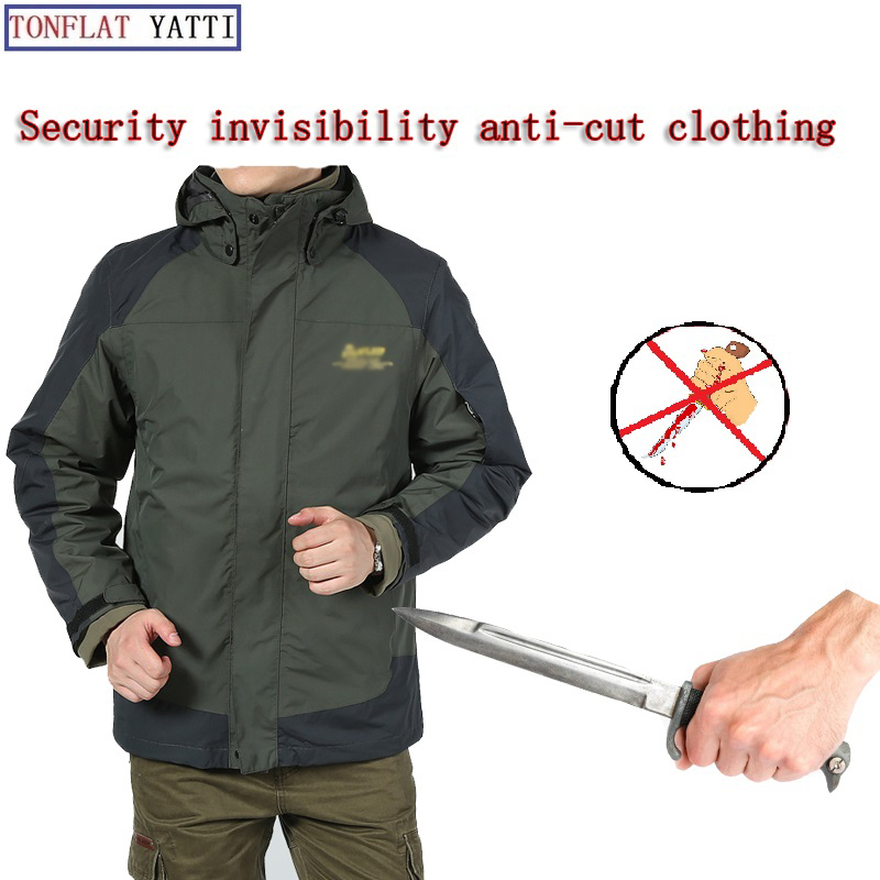 New 2019 Winter Thickening Warm Stab-Resistant Anti-Cutting Jacket Fbi Swat Plice  Self-Protection Lnvisible Anti-Cut Clothing