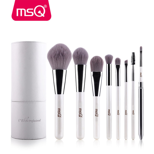 MSQ Makeup Brushes Professional Zodiac Cosmetics Brush Set 8pcs High Quality Synthetic Hair With White Cylinder Brush Set