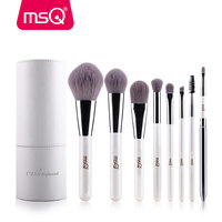 MSQ Makeup Brushes Professional Zodiac Cosmetics Brush Set 8pcs High Quality Synthetic Hair With White Cylinder