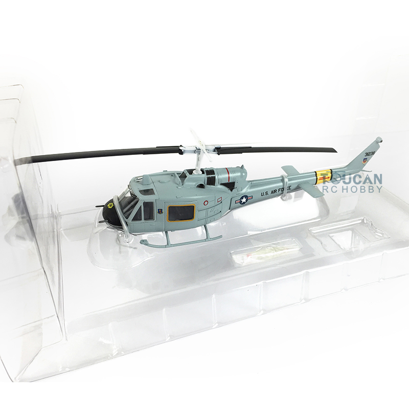 Easy Model 36917 1/72 Scale Grey UH-1F Huey Helicopter Airplane Finished Model image