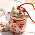 Japanese Style Lucky Cat Wind Chimes Interior Decoration Yard Garden Outdoor Lucy Cat Door Hanging Home Decro Jushi Ornaments