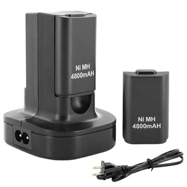 Лучшая цена горячая распродажа двойной устройство для док-станции + 2 шт. 4800 мАч аккумуляторная батарея для Xbox 360 контроллер высокое качество