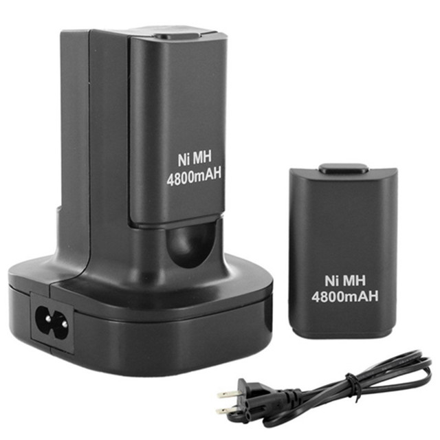 Best Price Hot Sale Dual Charger Dock Station + 2Pcs 4800mAh Rechargeable Battery for Xbox 360 Controller High Quality