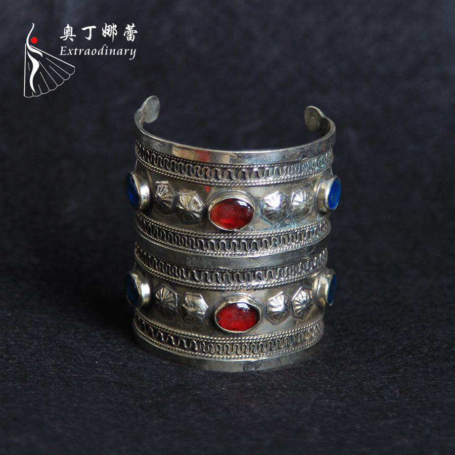 Brand Women's Retro Vintage Tribal Bracelet For Belly Dancing Delicate Performance Dancewear Alloy Metal Jewelry Bracelets ATS01