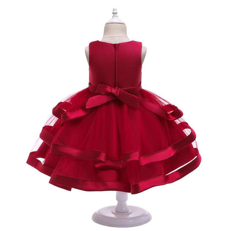 女の子のウェディングドレスふわふわケーキスマッシュ服クリスマスハロウィン誕生日新年衣装チュチュ子供ドレス