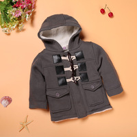 Children Horn Button Jacket Winter Clothes Outerwear Coat Cotton Thick Kids Clothes Children Clothing With Hooded