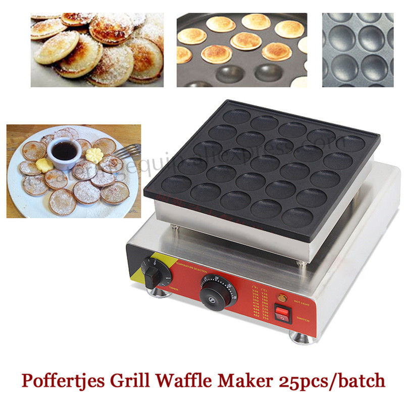 Electric Nonstick Dutch Biscuits Machine Netherlandish Poffertjes Grill 25 pcs Pancake Waffle Maker 2017 electric 110v 220v 25 holes poffertjes grill dutch waffle maker mini pancake machine