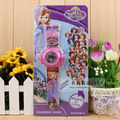 Free Shipping New 1pcs Popular cartoon sofia princess Projection watch Children Gifts-24 Different Patterns