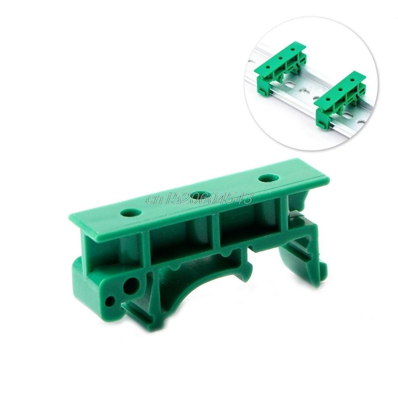 PCB 35mm DIN Rail Mounting Adapter Circuit Board Bracket Holder Carrier Clips R24 Drop Ship