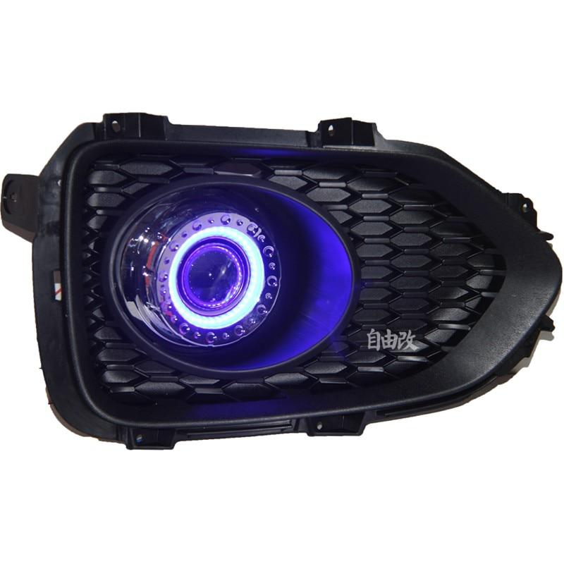 LED DRL дневна светлина COB ангелско око, - Автомобилни светлини - Снимка 2