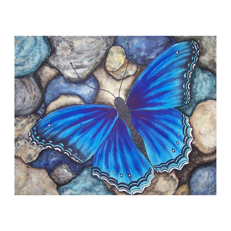 Diamond Painting Blue Butterfly Pattern Full Square Resin Drill Diamond Mosaic Sale Needlework Art Factory Direct Home Decor DCC