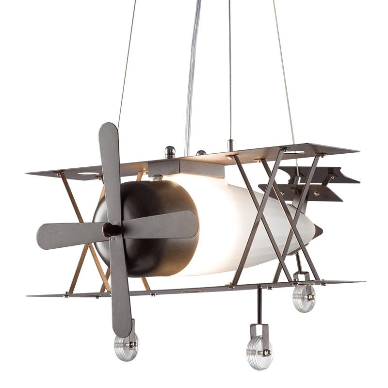 Artpad américain industriel Vintage suspension lampe en métal abat-jour avion forme E27 créatif LED lampes suspendues pour enfants enfants chambre