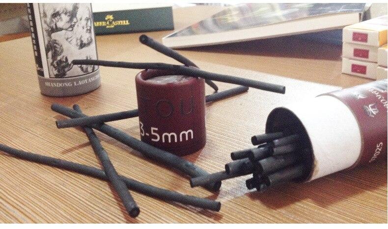 25 шт., хлопок, Ивовый уголь, Полоска, 3-5 мм, профессиональный инструмент для рисования граффити, для школы, офиса, дарвинга, канцелярские принадлежности
