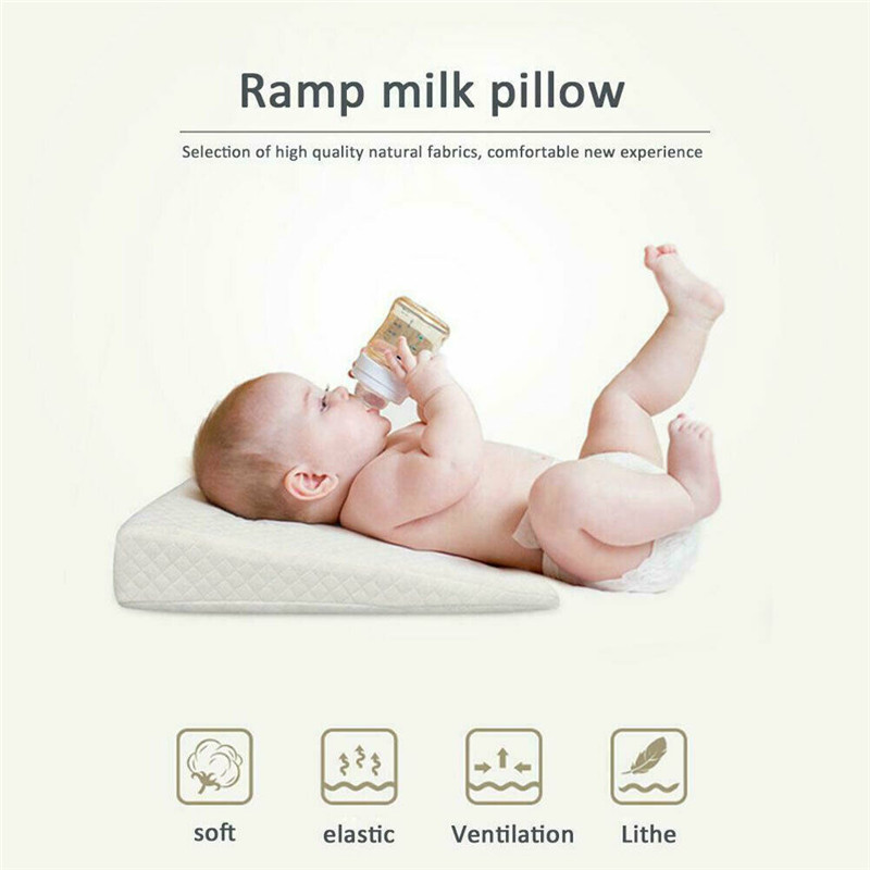 PUDCOCO Anti Roll Baby Wedge Pillow for Newborn Baby for Comfortable Sleep of Infant 5
