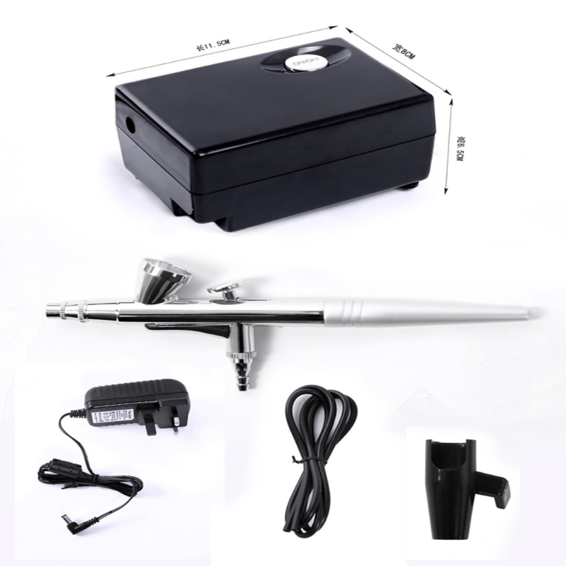 Air Brush Compressor Airbrush 0.4mm Needle Aerograph Kit Face paint for body Henna tattoo airbrushes nails Art flash