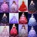 50 Unids/lote Accesorios Muñeca Hermosa Elegante Vestidos de Novia Ropa de Noche Al Por Mayor Vestido para Barbie Doll Envío Gratis