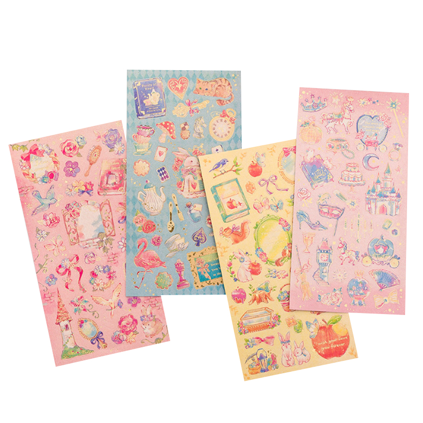 1sheet/lot Romantic Fantasy Beautiful Fairy Tale World Princess Flower Decoration Sticker Album Diary Students Gift