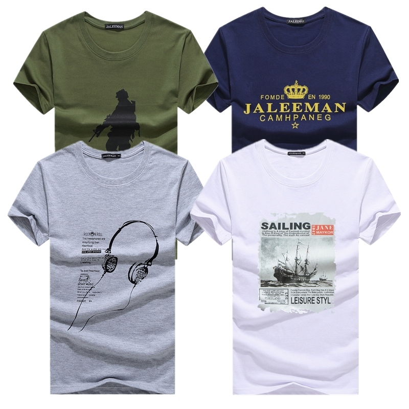 KUYOMENS 4 Pcs   T     shirts   For Men New Arrival Men's   T  -  Shirts   Plus Size Fashion Summer Short Sleeve   T     Shirts   Men Male Tee   Shirts