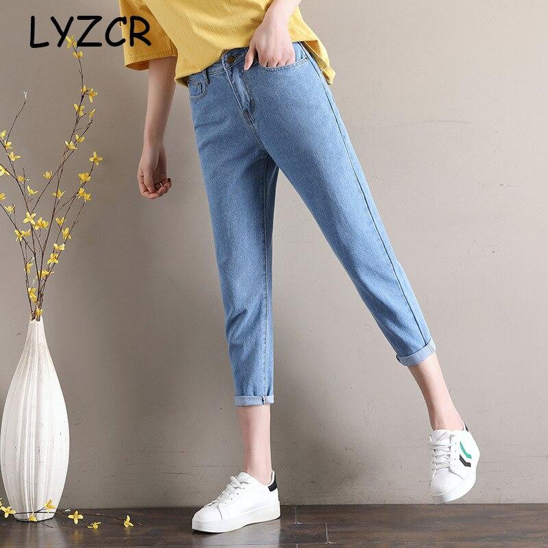 White Harem Loose Women's Boyfriends Jeans Denim Pencil Pants 2019 Black Women Harem Jeans Boyfriends Ankle Length Jeans Summer
