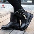Nuevo Diseño 1 pair cuero genuino Infantiles Snow Boot, martin Tobillo Marca niños botas, Invierno Cálido Rainboots niño femenino de Arranque