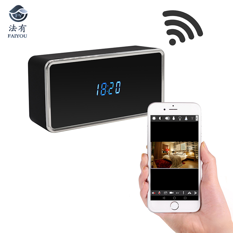 WiFi Table Clock Mini Camera 4K 12MP HD IP P2P DVR Camcorder Alarm IR Night Vision Motion Sensor Remote Baby Monitor hd 720p table alarm clock wireless wifi ip mini ir camera motion security baby monitor with digital clock home dv cam clock