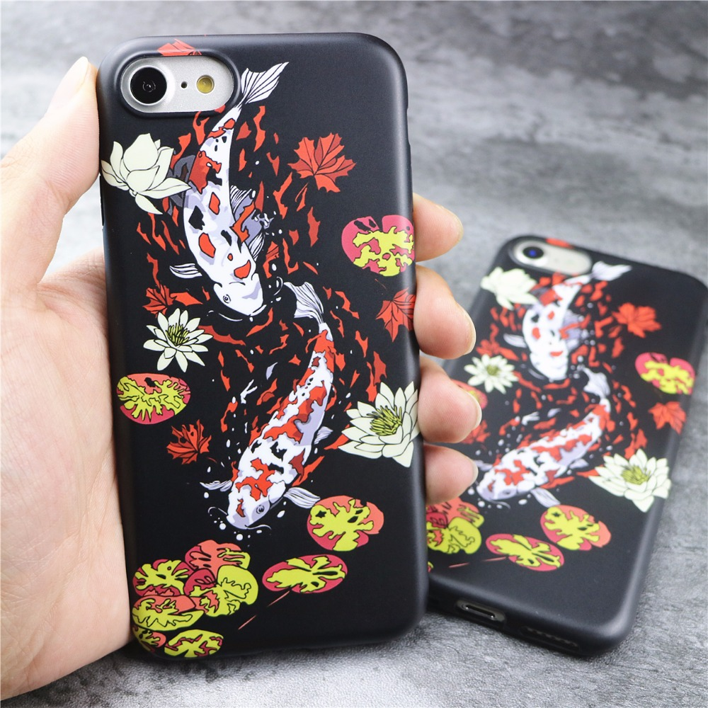 feng shui case. New Koi Fish Feng Shui Case For IPhone 7 6s 6 Plus Japenese Style Fashion Shell Skin Soft Back Cover-in Fitted Cases From Cellphones \u0026 Telecommunications On
