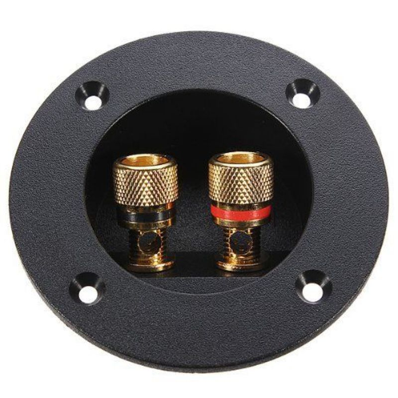 mayitr car subwoofer speaker box terminal round spring cup connector gold plated plug for 4mm. Black Bedroom Furniture Sets. Home Design Ideas