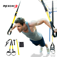 REXCHI Gym Fitness Resistance Bands Hanging Belt for Yoga Stretch Pull Up Assist Rope Straps Crossfit Training Workout Equipment