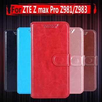 For ZTE Z MAX Pro Z981 Case 3D bearcat PU Leather wallet Phone Case For ZTE Blade X Max Z983 Grand X Max 2 Kirk Cover image