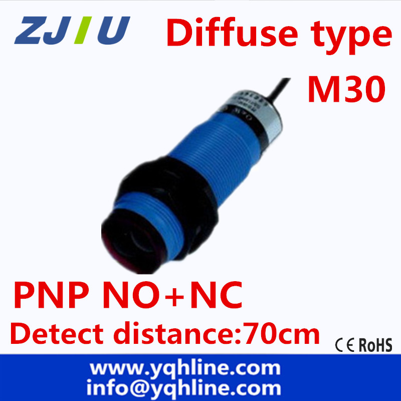 M30 diffuse type DC PNP NO+NC 4 wires photoelectric sensor photocell ...
