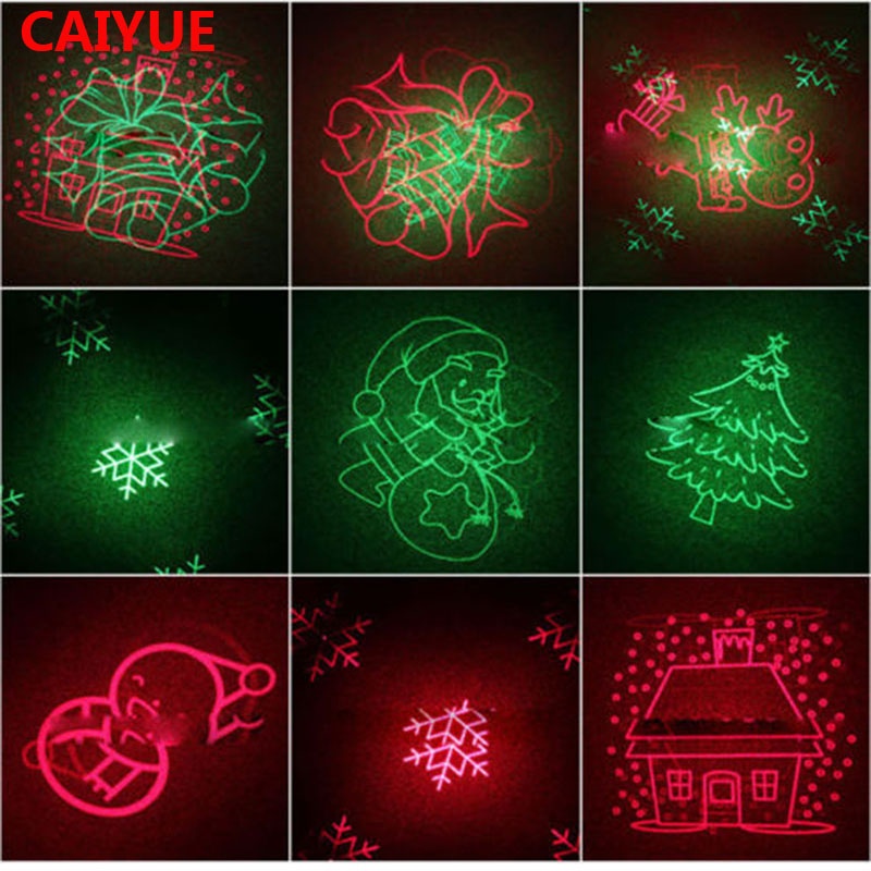 цена на 8 Big Xmas Patterns Laser Christmas Light Outdoor RF remote Motion RG Projector Waterproof IP65 Snowflake Tree Garden Lawn lamps
