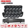 16ch CCTV System 16PCS 720P Waterproof IR Cameras 16ch Security Camera System DVR Kit HDMI CCTV