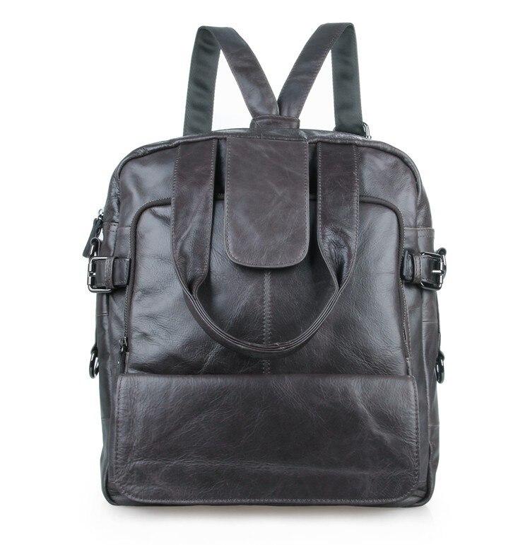 JMD Mens Light Grey Genuine Leather Multiple Used Backpack Travel Bag 7065I JMD Mens Light Grey Genuine Leather Multiple Used Backpack Travel Bag 7065I