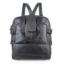 7065I JMD Mens Light Grey Genuine Leather Multiple Used Backpack Travel Bag Free Ship