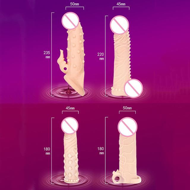 Delay Lock Condoms for Men Delay Ejaculation Penis Extender Reusable Condoms Penis Sleeve Condom Extender for Men 6